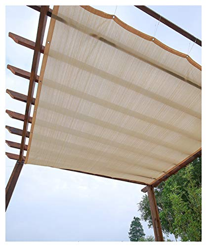 Beige Garden Sun Shade Sails Anti-UV Soleil Ombre Voile Plants Protection Cover Shade Net Hi-Quality Sun Shelter Sunshade Net Sails Sail Proof Water Plants Protection Auvents