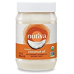 professional Nutiva Bio, steamed coconut oil made from non-GMO green coconut, 15 fl oz …