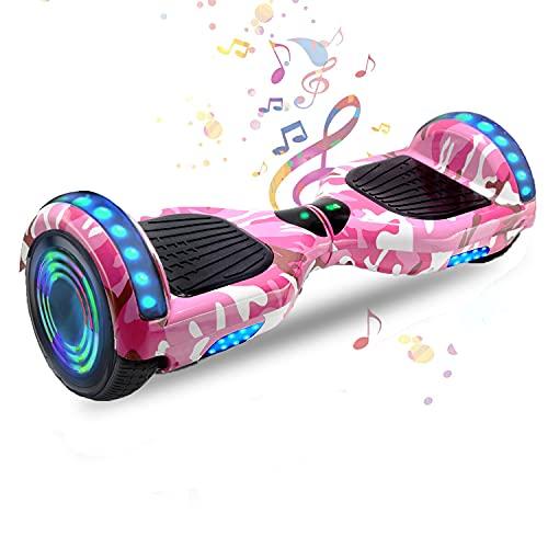HappyBoard 6,5 Pollici Hoverboard Monopattini Elettrici Autobilanciati Scooter Elettrico Autobilanciante, Ruote da Skateboard con Luce a LED, Motore 700 W Bluetooth per Bambini e Adulti (Cielo Blu)