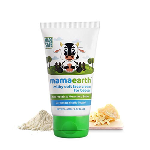 Mamaearth Milky Soft Baby Face Cream, with Murumuru Butter for Babies, 60 ml