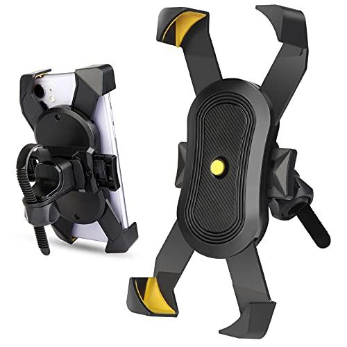 Eyscoco Fahrrad Handyhalterung,Universal Handyhalterung Fahrrad,360° Drehbar Abnehmbare Anti-Shake Handyhalterung Fahrrad Motorrad Handy Halterung mit Innovativer Schließfunktion