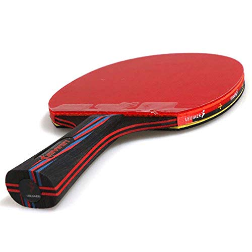 Daliwang Raqueta de Tenis de Mesa 9.8 Carbono, Raqueta de Tenis de Mesa Raqueta de Entrenamiento Paquete Individual Raqueta de Juego