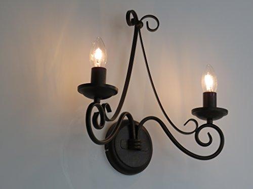 Lámpara de pared aplique Fiammingo clásico rústico Country Vintage Shabby
