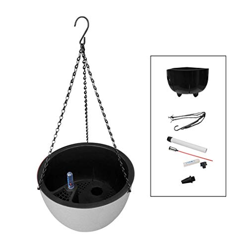 NA. LGQ 4 Colors Self Watering Hanging Planter Includes Chain and Water Level Indicator