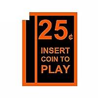 ZDZCLI 2xPCS車のステッカーピンボールアーケードゲームコインスロット紙スクリーンデカールオートバイバンパーオフロードラップトップ 自動車部品用装飾ステッカー (Color Name : Coin9, Size : 10cm)