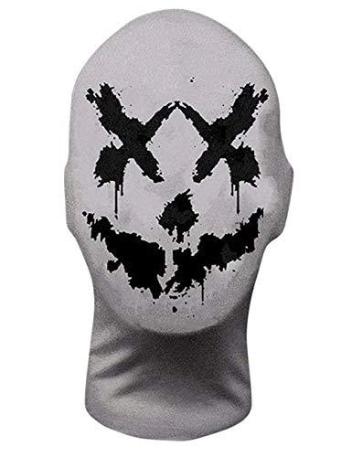 Yuanxianglong Watchmen Rorschach Mask, die Original Rorschach Inkblot Mask, Vollkopf Lycra Maske für Unisex Halloween Cosplay Kostüm Kopfbedeckungen (Stil C)
