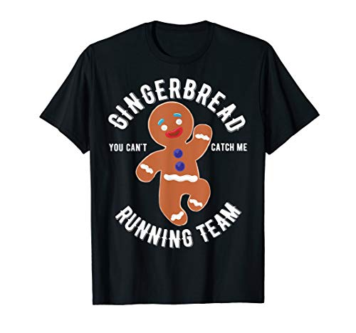Gingerbread Running Team funny Gingerbread Christmas T-Shirt