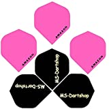 MS-DARTSHOP Dart-Flights Amazon Standard 100 Micron Stark, 3 Satz = 9 Stück, Incl. 1 Satz MS-DARTSHOP Flights (Pink)