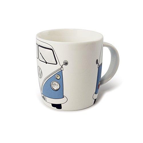 BRISA VW Collection - Volkswagen Bulli Bus T1 Kaffee-Tee-Tasse-Becher für Küche, Werkstatt, Büro - Camping-Zubehör/Geschenk-Idee/Souvenir (Motiv: Front/Blau/Weiß)