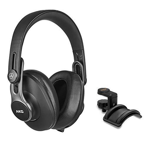 AKG K371-BT Bluetooth Over-Ear, Closed-Back, Foldable Studio Headphones Bundle with Knox Gear Professional Headphone Case for Inward Folding Headphones (2 Items)