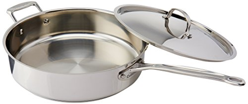 Cuisinart 733-30H Chef's Classic Stainless 5-1/2-Quart Saute Pan with Helper Handle and Cover,...