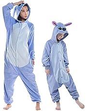 Swanka Pijama Stitch Onesie Disfraz Traje Adulto Niños Niña Mujer Animale Invierno Kigurumi Cosplay Halloween y Navidad