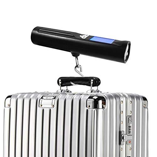 Báscula Digital De Equipaje Ergonómica LCD con Linterna 88lb/40Kg para Escala De Equipaje Balance De Peso