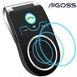 Aigoss Vivavoce Bluetooth Car Kit per Chiamate Viva Voce GPS e Musica Supporto per Aletta ...