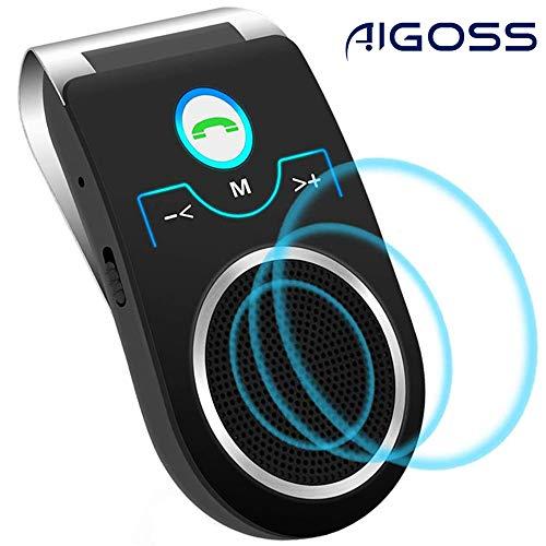 puissant Aucun téléphone à haut-parleur Bluetooth Aigoss pour voiture et Siri et Google Speaker Assistant…