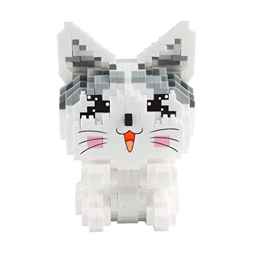 Larcele Mini Cat Building Blocks Animal Building Toy Bricks,1002 piezas KLJM-02 (Modelo 2284)