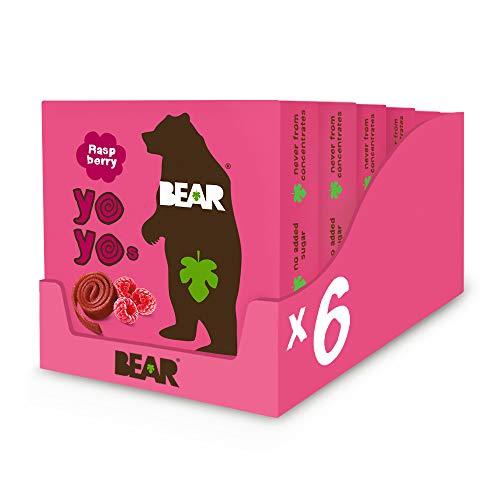 Bear Yoyo 100 Percent Fruit Rolls Raspberry 100 g (Pack of...