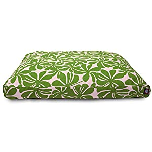 Sage Plantation Large Rectangle Indoor Outdoor Pet Dog Bed With Removable Washable Cover By Majestic Pet Products
