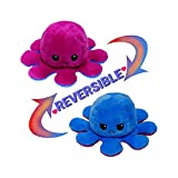 The Original Reversible Octopus Plushie Double Sided Stuffed Animal Plush Toy Show Your Mood Without Saying A Word (Purple and Blue)