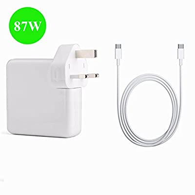 BOLWEO 87W USB-C Power Adapter Charger for MacBook Pro 15 inch 2016? Replacement Laptop Charger with 2M USB-C to USB-C Charge Cable