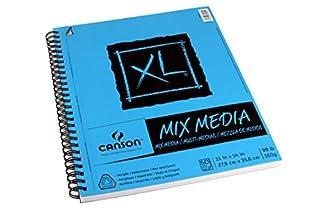 اسعار Canson 100510929 XL Series Mix Paper Pad, Heavyweight, Fine Texture, Heavy Sizing for Wet and Dry Media, Side Wire Bound, 98 Pound, 11 x 14 in, 60 Sheets, 11