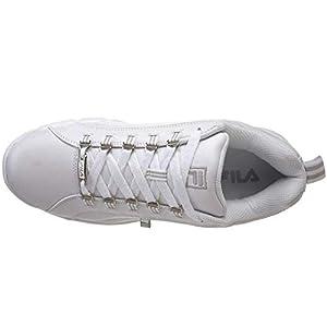 Fila mens Exchange 2k10 fashion sneakers, White/White/Metallic Silver, 11 US