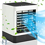 QIUJIN Portable Air Conditioner Fan, Humidifier Cooler Personal Small Mini Desk Fan Evaporative Air Cooler with Misting Cooling for Home Bedroom Office Outdoor