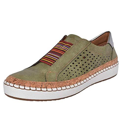 nobrand Damen Sneaker Damenschuhe Casual Flat Geeignet für weites Bein