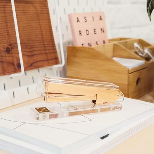 Gold Stapler for Desk - Cute Stapler for Office - Clear Acrylic Stapler - Desktop Designer Stapler - Elegant Desk Accessory, Trendy Novalty Stapler - Pretty Office Space - Lucite, Large Office Stapler Photo #6