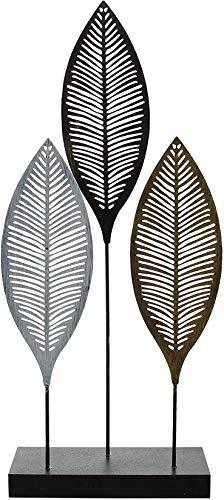 Deko-Objekt Blätter aus Metall, 50 cm hoch, Skulptur, Deko-Figur