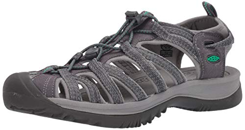 Keen Damen Whisper Sandale, Medium Grey Peacock Green, 39 EU