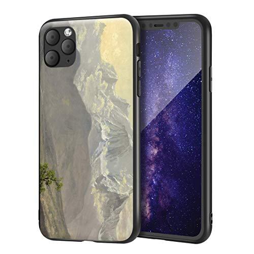 Berkin Arts Albert Bierstadt para el Caso del iPhone 11 Pro MAX/Estuche para teléfono móvil de Bellas Artes/Impresión Giclee UV en la Cubierta del teléfono móvil(Mont Blanc)