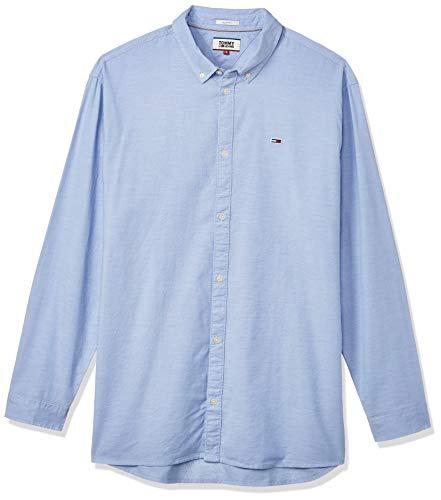 Tommy Hilfiger TJM Stretch Oxford Shirt Camisa, Azul (Perfume Blue C4e), X-Small para Hombre