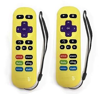 2-Pack Amaz247 ARCBZ01 Replacement Remote for Roku 1 Roku 2 Roku 3 Roku 4  HD LT XS XD  MLK247 Streaming Player  DO NOT Support Roku Stick or Roku TV or MLK247 TV