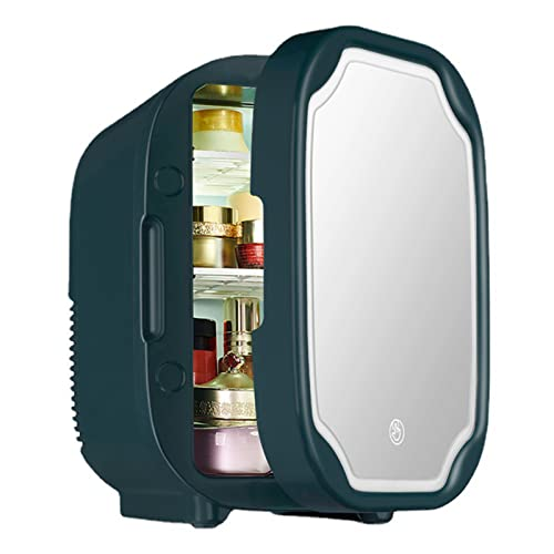 Mini Refrigerador De 8 litros Nevera Coche Refrigerador Portátil para El Cuidado De La Piel para Almacenamiento De Maquillaje Refrigerador De Belleza Portátil Refrigerador Termoeléctrico,Dark Green