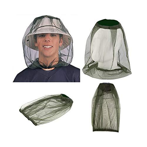 ZJW Moskito Kopfnetz Mesh, Face Mesh Mask Cover Moskitonetz Kopf Insektenschutz Hut Geeignet für Outdoor Wandern Camping, Klettern, Angeln, Imkerei (3er Pack)