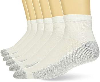 6-Pack Hanes Men's Cushion Ankle Socks