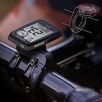 Sigma Pack Sport ROX 2.0 Noir Top Mount Set | Compteur Cycle GPS sans Fil & Navigation avec Support déporté Court Inclus | Pur Plaisir de Navigation GPS en extérieur
