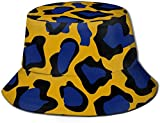 Cappelli da Pesca Cappelli da Sole Leopard Design Abstract Polyester Water Proof Dust-Proof Unisex Fashion Hat Summer Fisherman cap for Men Women Black