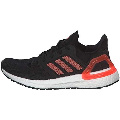adidas Ultraboost 20 W, Zapatillas de Running Mujer, Core Black/Signal Coral/FTWR White, 36 2/3 EU