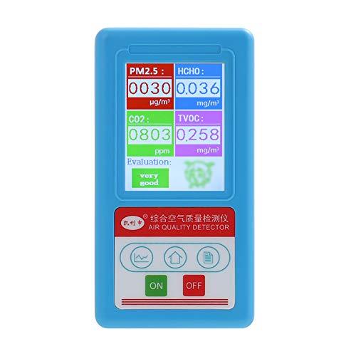 KKmoon CO2 Messgerät 0-5000 ppm Professioneller Handheld CO2 PM2.5 PM10 PM1.0 HCHO-Kohlendioxid-Detektor Kohlendioxid Detektor Luftqualitätsanalysator Partikel-Tester