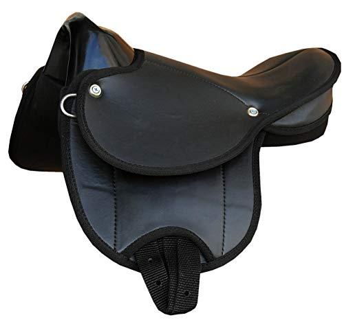AMKA Pony-Shettysattel Little Emily-auch für Holzpferde geeignet- schwarz 10 TOP Ausführung Shettysattel Ponysattel