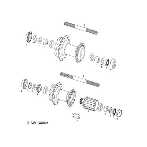 Sram MTB Wheels Unisex– Erwachsene Nabe Freilaufkörper, schwarz, Standard