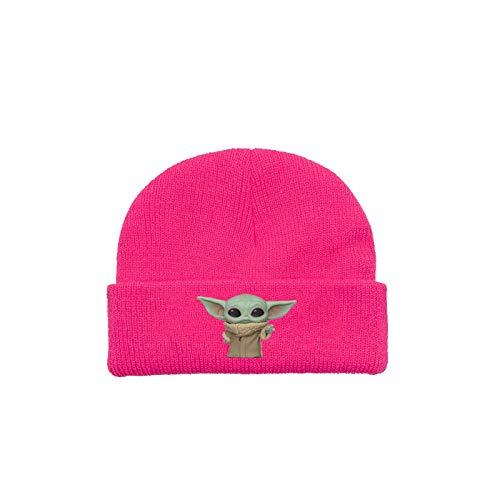 ZGRNB Yoda Baby Mandalorian Gorro de Punto para niños Gorro de Punto para jóvenes Gorro de Lana cálido con protección para los oídos