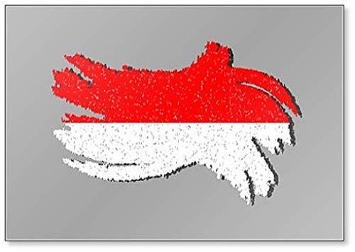 Monaco Grunge vlag, Monaco Vlag met Schaduw Illustratie Koelkast Magneet