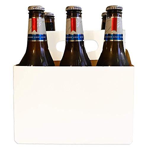 6 Pack Cardboard Bottle Holder [Econo Pack] | Fits 12-16oz bottles | For Safe and Easy Transport of Beer, Soda and Other Bottled Products | 140 Pack