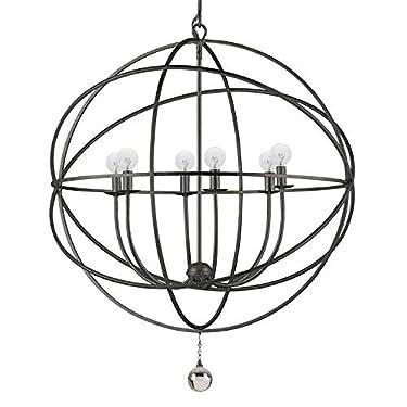 Solaris 6 Light Bronze Sphere Chandelier