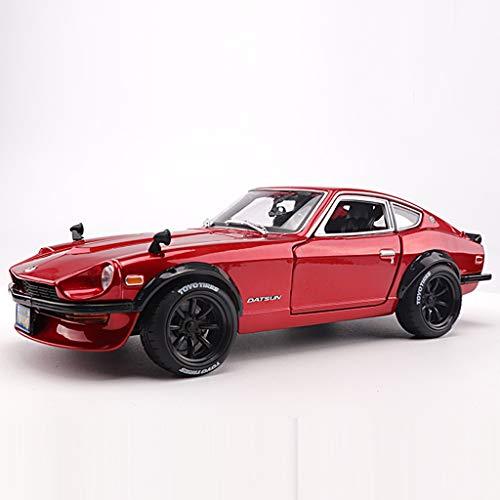 JSFQ Auto Spielzeug Modell 1:18 Simulation Legierung Sport Auto Spielzeug Modell multifunktions kunstsammlung hochwertige gummireifen rot