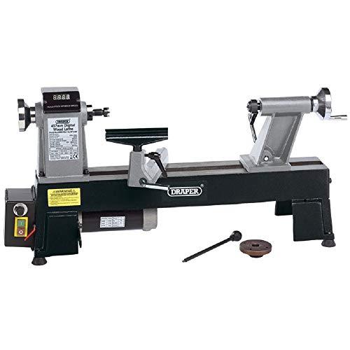 Draper 60989 18-Inch 457 mm Compact Woodlathe - Black