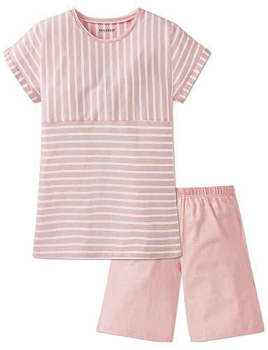 Schiesser Mädchen Anzug kurz' Zweiteiliger Schlafanzug, Rot (Rosa 503), 140 (Herstellergröße: XS)